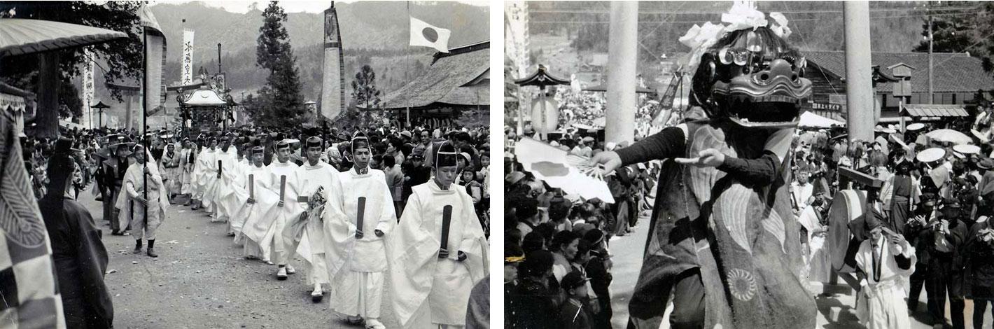 昭和35年大祭の模様